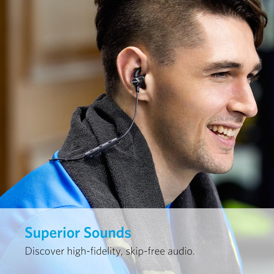 HTC und mehr iPad Samsung Slim Bluetooth Kopfh/örer Kabellos IPX5 Wasserfest Sport Headset mit 7-Stunden-Spielzeit//Mikrofon f/ür iPhone Nexus