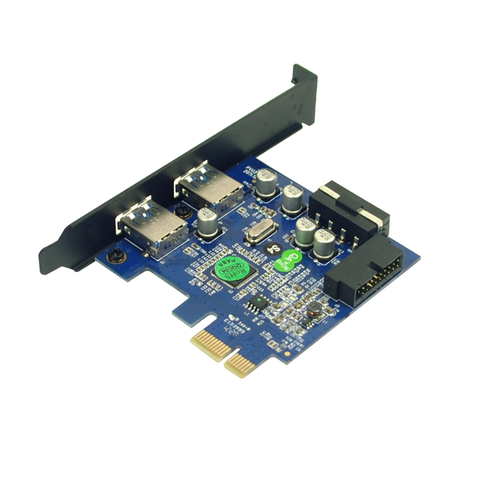 7 Port PCI-E to USB 3.0 PCI Express Card Adapter Host Controller 5Gbps Speed