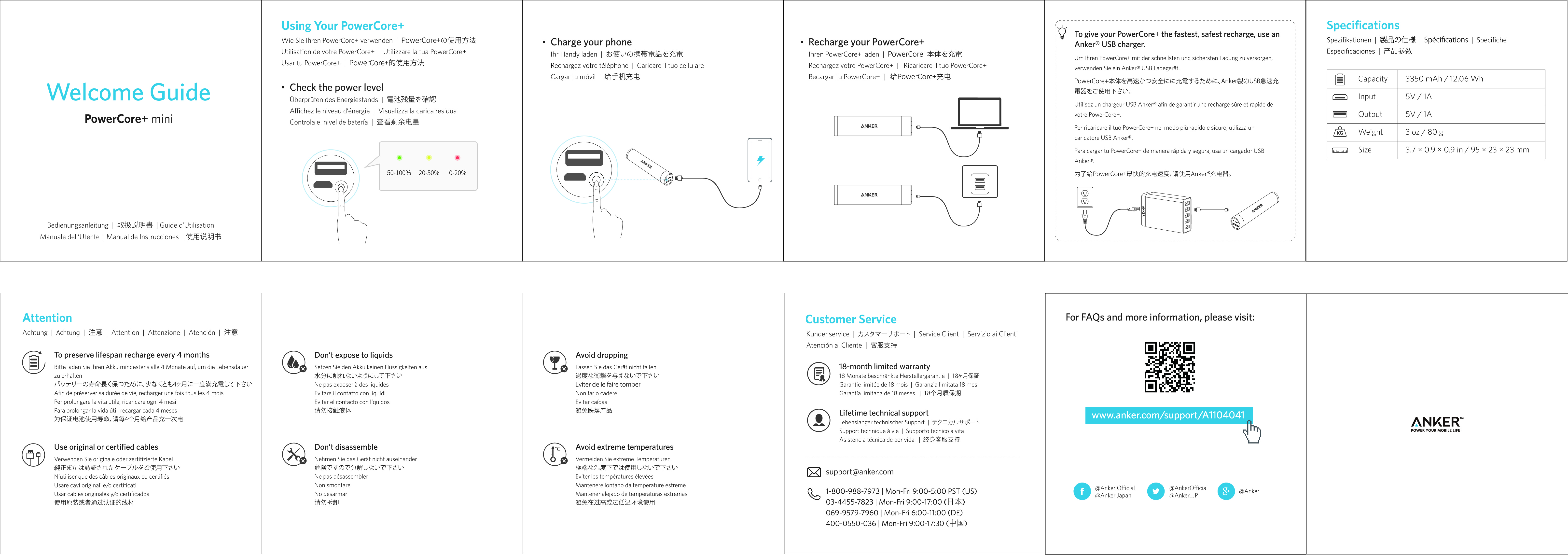 Anker Powercore Mini 3350 Astro Led Torch Circuit Instruction Manual
