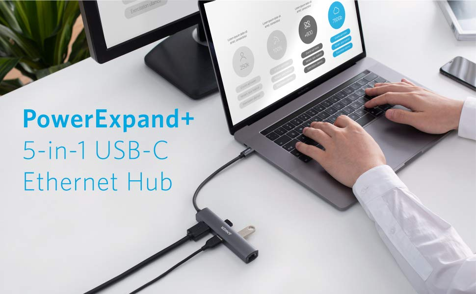Anker PowerExpand+ 5-in-1 USB-C Ethernet Hub  5
