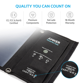 anker - Chargers - PowerPort Solar 2 Ports # 6