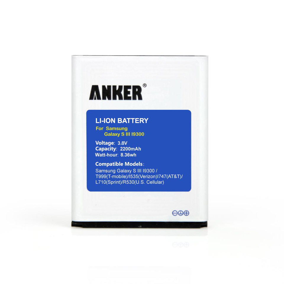 samsung galaxy s3. anker - replacement batteries 2200mah battery for samsung galaxy s3, i9300, s3