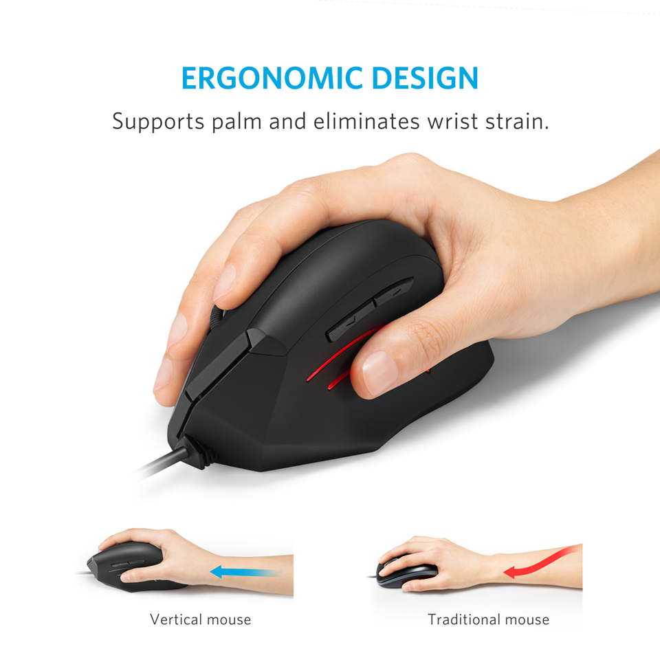 Anker Ergonomic Wired Vertical Mouse Usb Optical Wiring Diagram