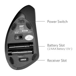 anker - Interface - 2.4G Wireless Vertical Ergonomic Mouse # 3