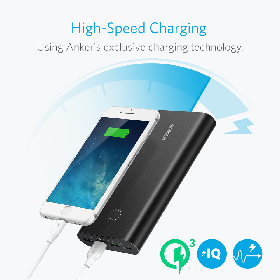 Anker PowerCore+ 26800 Power Bank with Qualcomm Quick Charge 3.0 14