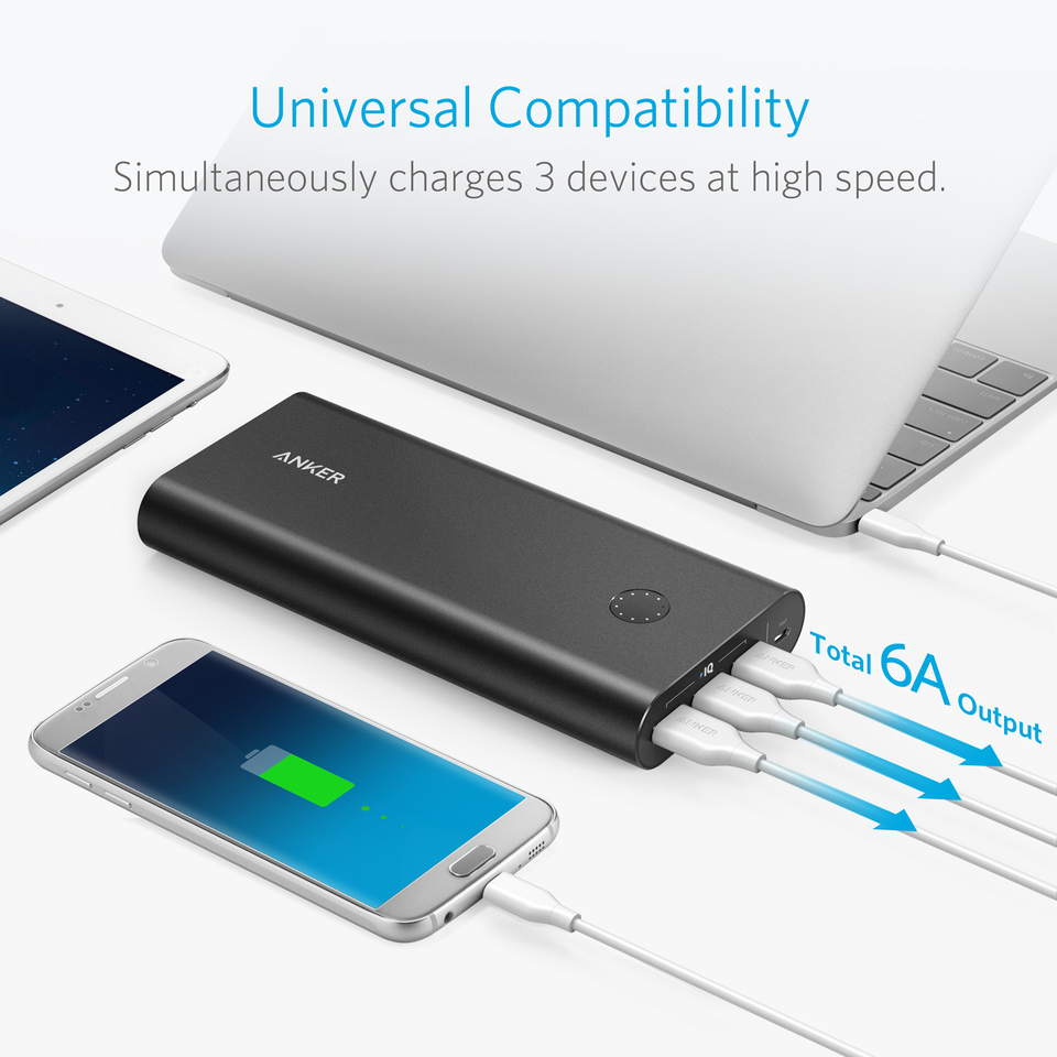 Anker PowerCore+ 26800 Power Bank with Qualcomm Quick Charge 3.0 18