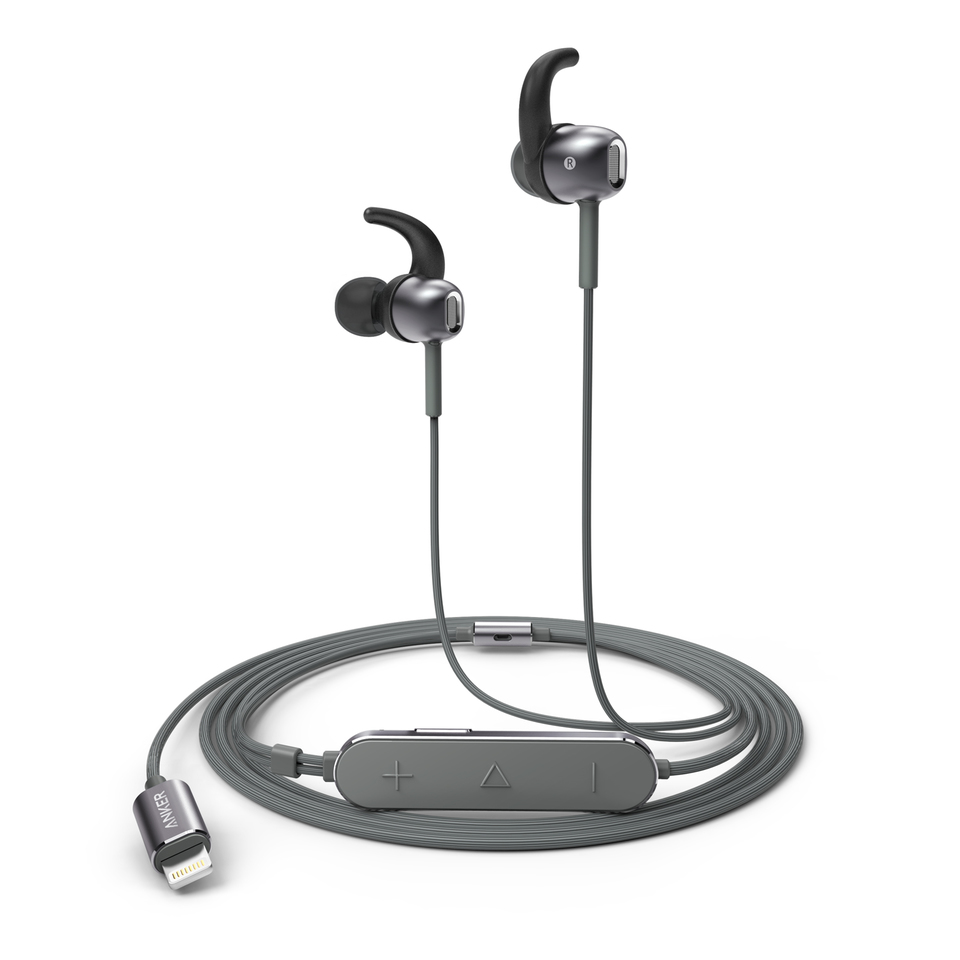 anker soundbuds digital ie10 in-ear lightning headphones with sound mode  adjustment - earbuds with high resolution sound, mfi certified,