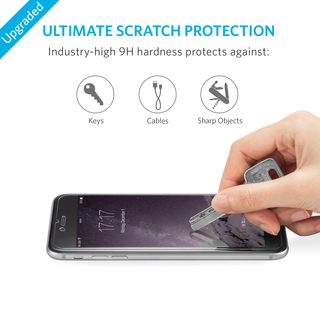 Anker | Tempered Glass Screen Protector for iPhone 6, 2 Pack