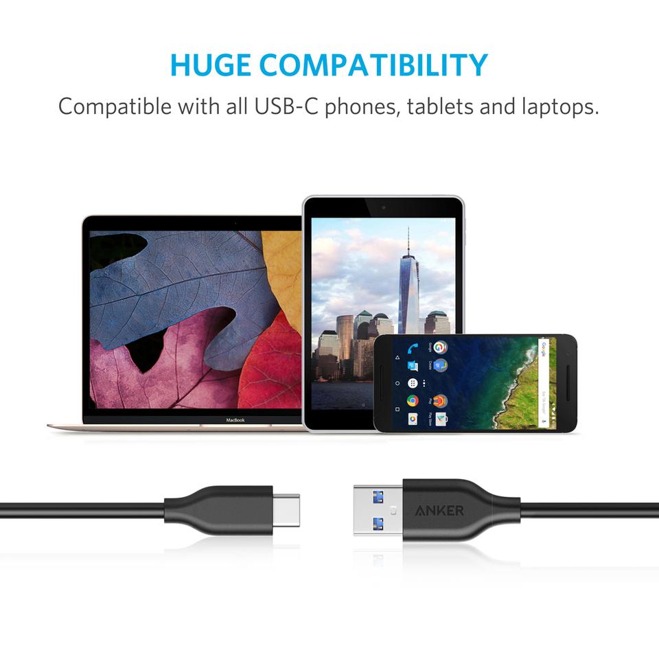 PowerLine 3ft USB-C to USB 3 0