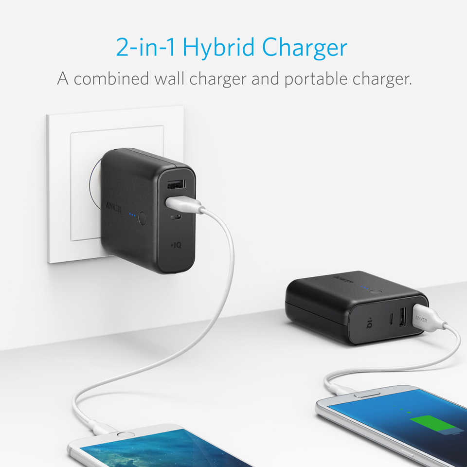 Anker Powercore Fusion Mobile Phone Travel Charger Electronic Components Circle The High Speed Portable Wall