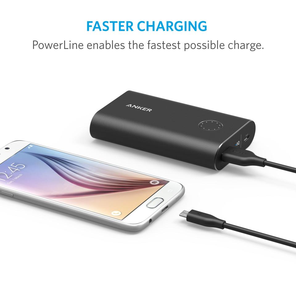 Anker | [4-Pack] PowerLine Micro USB (1ft / 0.3m)