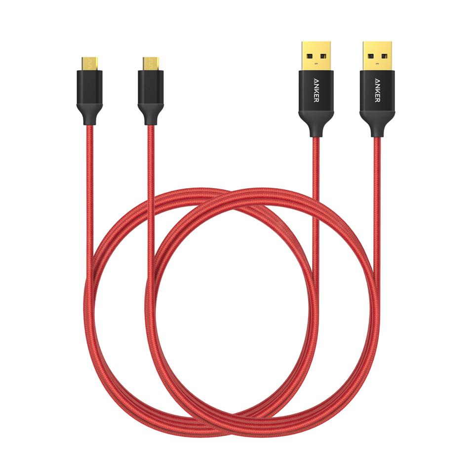 Anker | [2-Pack] Nylon Micro USB Kabel 6ft