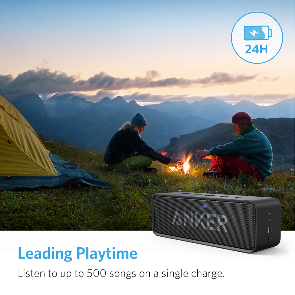 Anker Soundcore Bluetooth Speaker Bt Phone Extension Socket Wiring 24 Hour Playtime 66 Foot Range Built In Mic Dual Driver Portable Wireless With Low Harmonic Distortion And Superior Sound