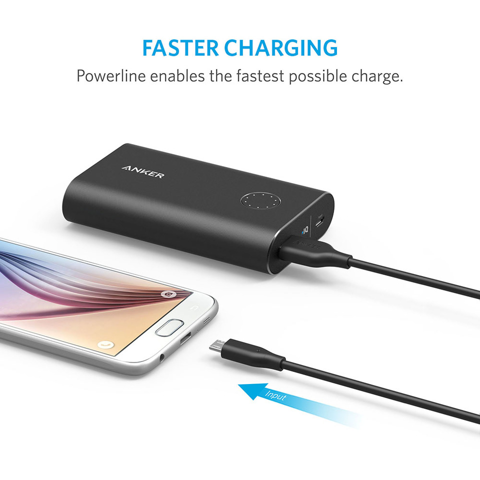 Anker Powerline 6ft Micro Usb Android Cable Schematic Durable Charging With Aramid Fiber And 5000 Bend Lifespan For Samsung Nexus Lg Motorola Smartphones More