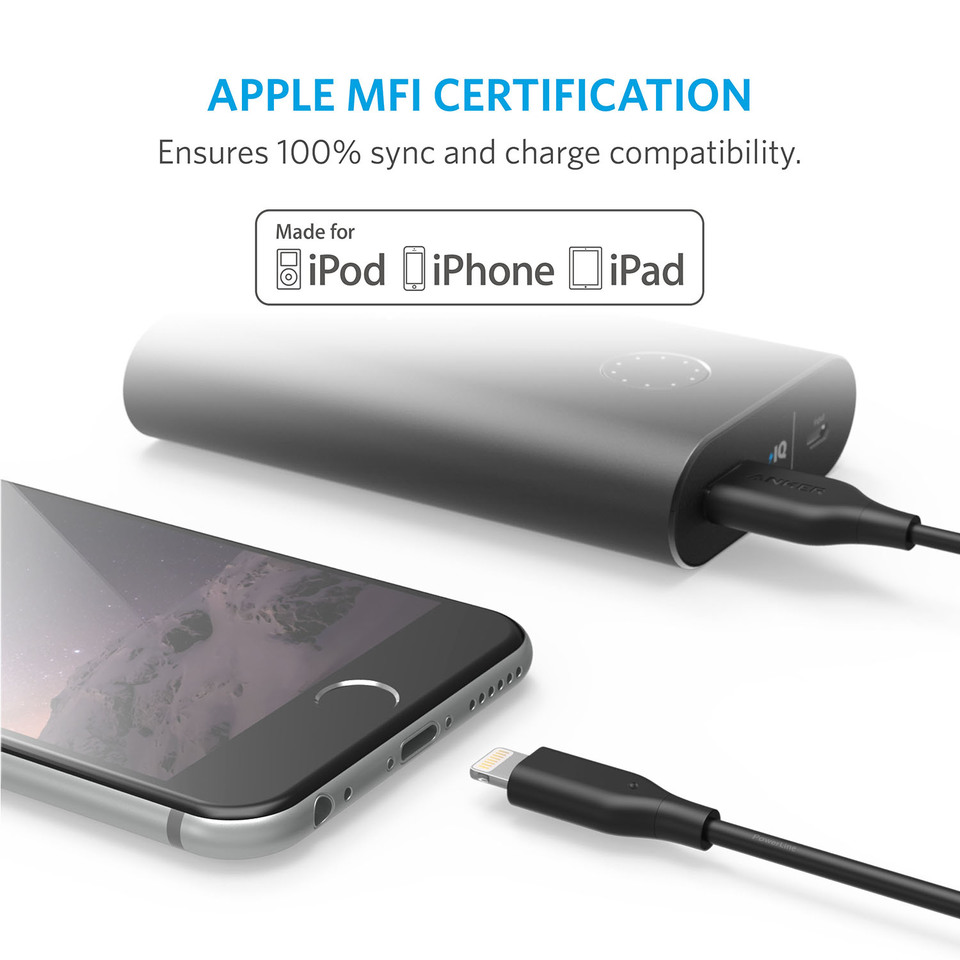 cb284c57fd1 Apple MFi Certified / Charging Cable, for iPhone X / 8 / 8 Plus / 7 / 7 Plus  / 6s / 6s Plus / 6 / 6 Plus / 5 / 5s / 5c, iPad mini / Air / Pro iPod touch