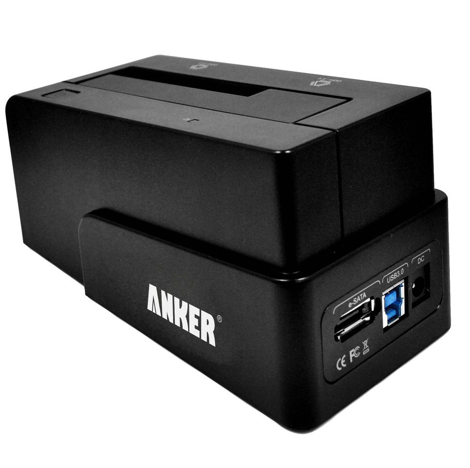 anker - Data Hub - USB 3.0 & eSATA to SATA Hard Drive Docking Station # 1