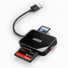 anker - Data Hub - USB 3.0 4-Slot Card Reader with Built-In Cable # 3