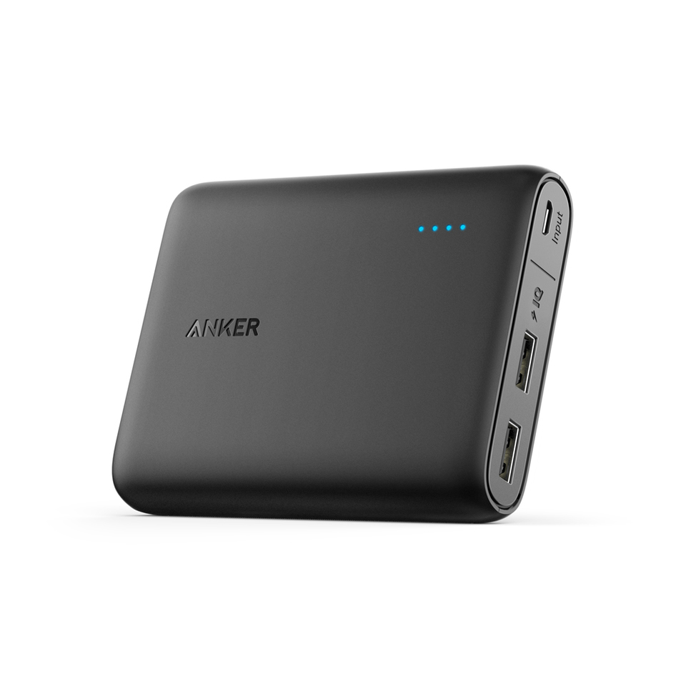 ANKER POWERCORE 13,000MAH PORTABLE DUAL USB POWERBANK BLACK