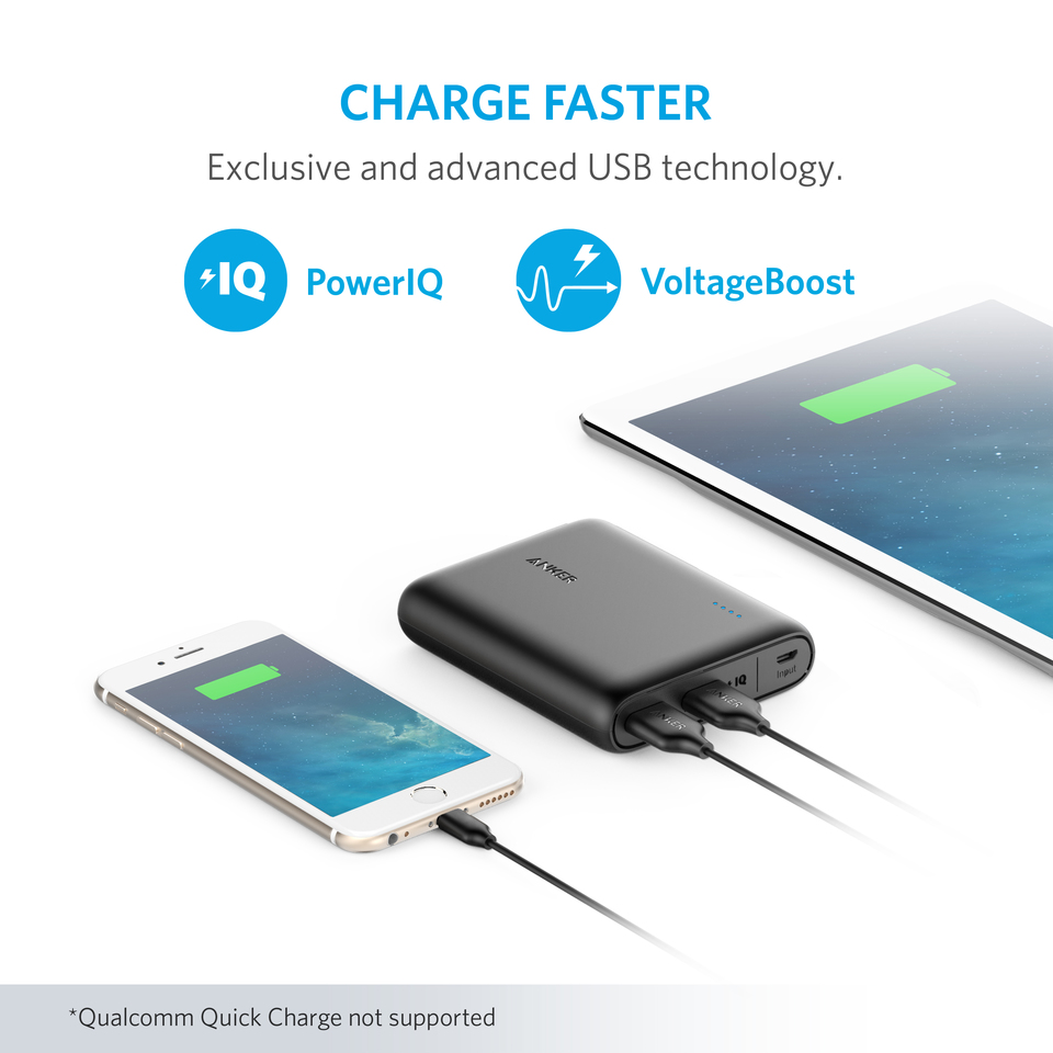 Anker Powercore 13000 Usb Power Bank Schematic Diagram Compact 13000mah 2 Port Ultra Portable Phone Charger With Poweriq And Voltageboost Technology For Iphone Ipad Samsung Galaxy