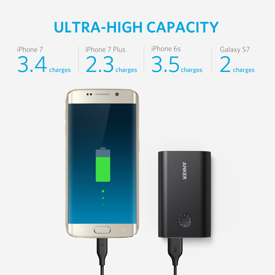 Anker Powercore 10050 Pcb Layout Of Mobile Phone And Ipod Battery Charger Circuit Premium Aluminum Portable With Qualcomm Quick Charge 30