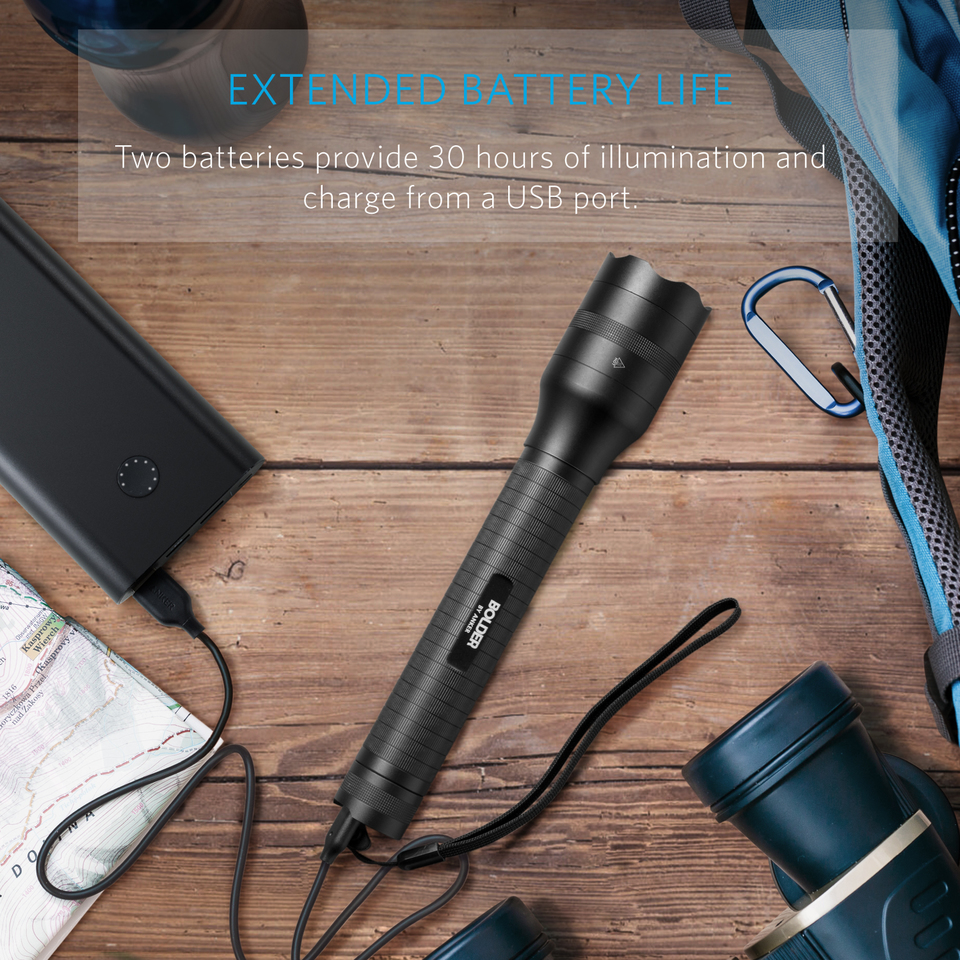 Anker Bolder Lc90 2 Cell Rechargeable Flashlight Led Diagram Torch Ip65 Water Resistant Zoomable For Camping And Hiking With Super Bright 900 Lumens Cree 5 Light Modes
