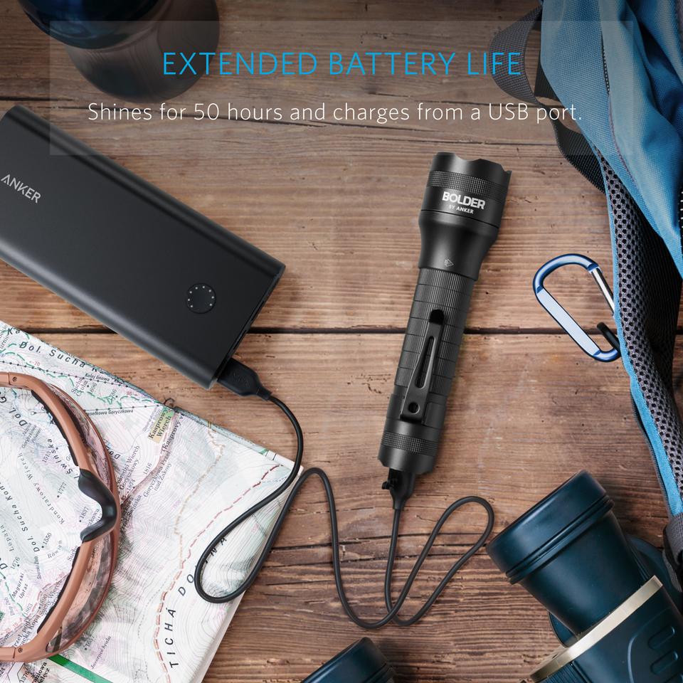 Super Bright 400 Lumens CREE Pocket-Sized LED Torch Anker LC40 LED Flashlight