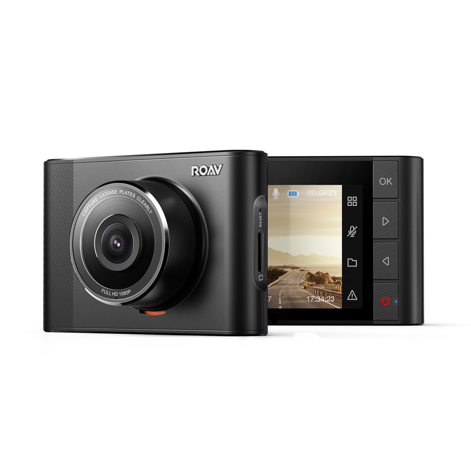 By Anker DashCam A1 Wide-Angle View Dash Cam G-Sensor Dashboard Camera Recorder with Sony Exmor 323 Sensor WiFi and Night Mode. 1080P FHD WDR Loop Recording NightHawk Vision Roav