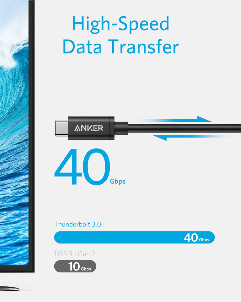 Anker | USB-C to USB-C Thunderbolt 3 0 Cable