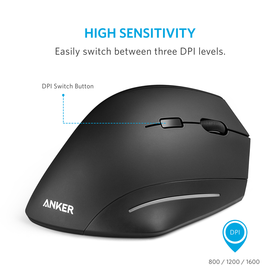 Anker | Ergonomic Wireless Vertical Mouse
