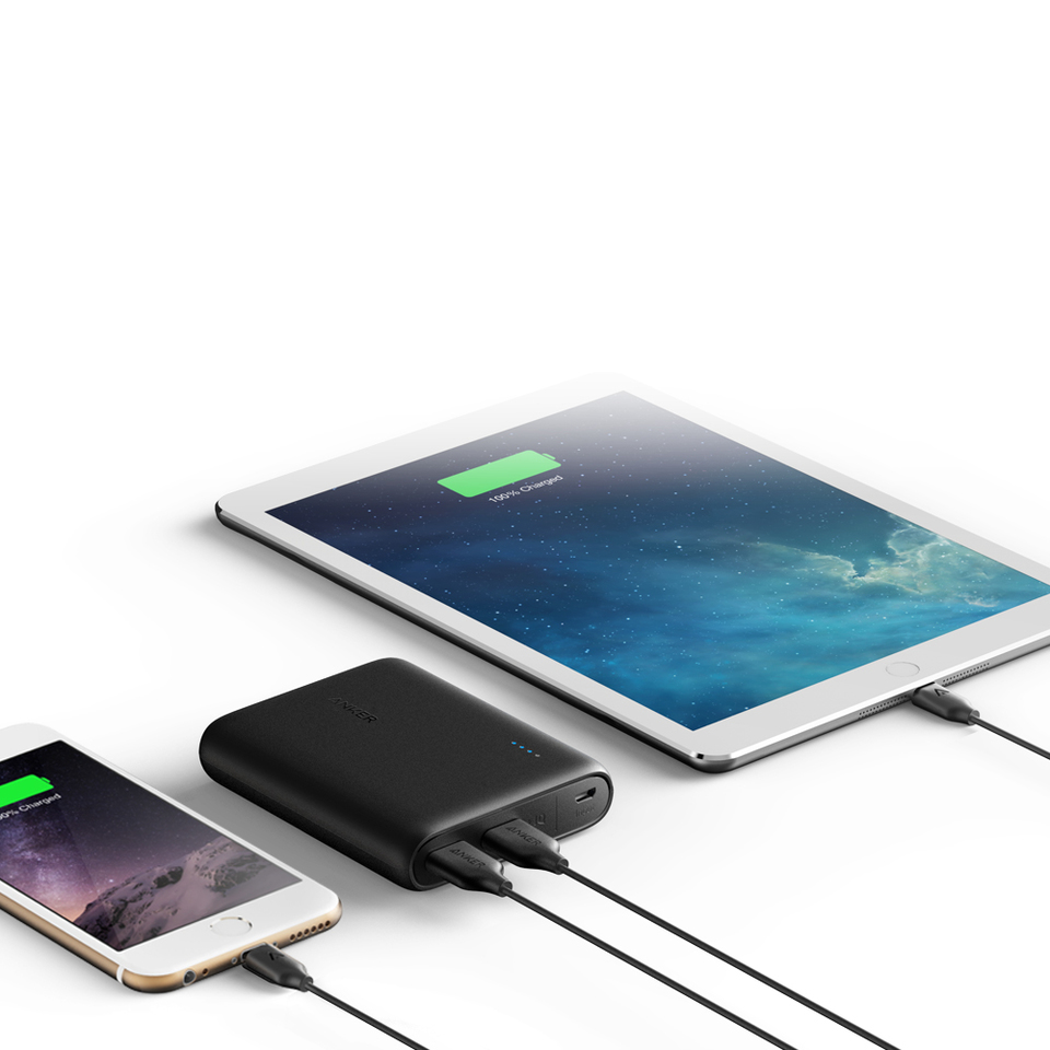 Anker Powercore 13000 Mobile Phone And Ipod Battery Charger Circuit Diagram Compact 13000mah 2 Port Ultra Portable Power Bank With Poweriq Voltageboost Technology For Iphone Ipad Samsung Galaxy