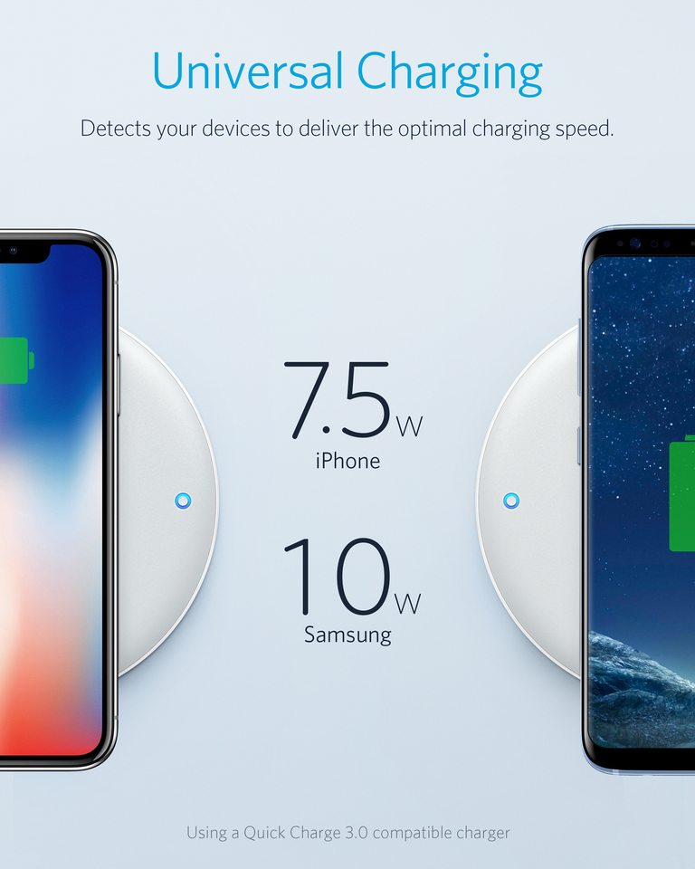 Anker | Anker PowerWave 7 5 Fast Wireless Charging Pad with Internal