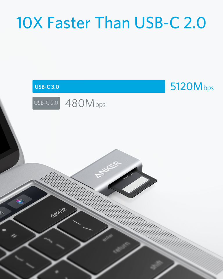 Anker | Anker 2-in-1 USB C to SD/Micro SD Card Reader