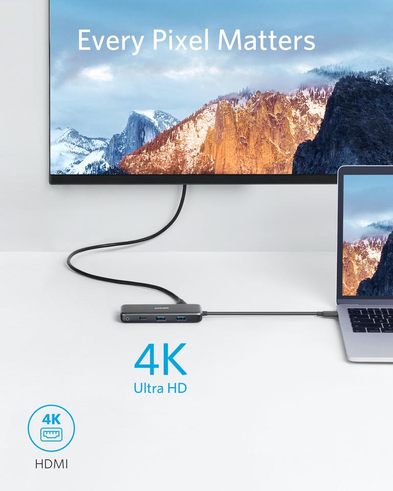 USB C Hub, 7-in-1 USB C Adapter