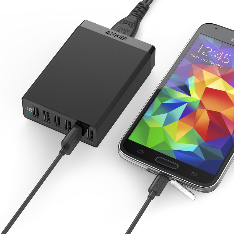 anker - Chargers - PowerPort 6 Ports & 6 Micro USB Cables # 1