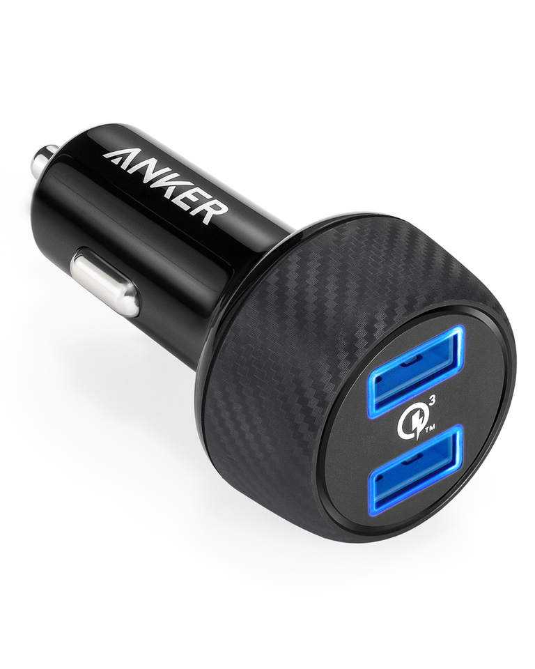 2. Anker PowerDrive Speed+2  - Best Pick for USB-C Charger