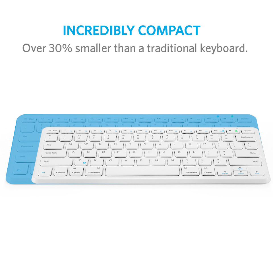 379cb08d8fb Ultra Compact Slim Profile Wireless Bluetooth Keyboard with Rechargeable  Battery (Compatible with New iPad 9.7