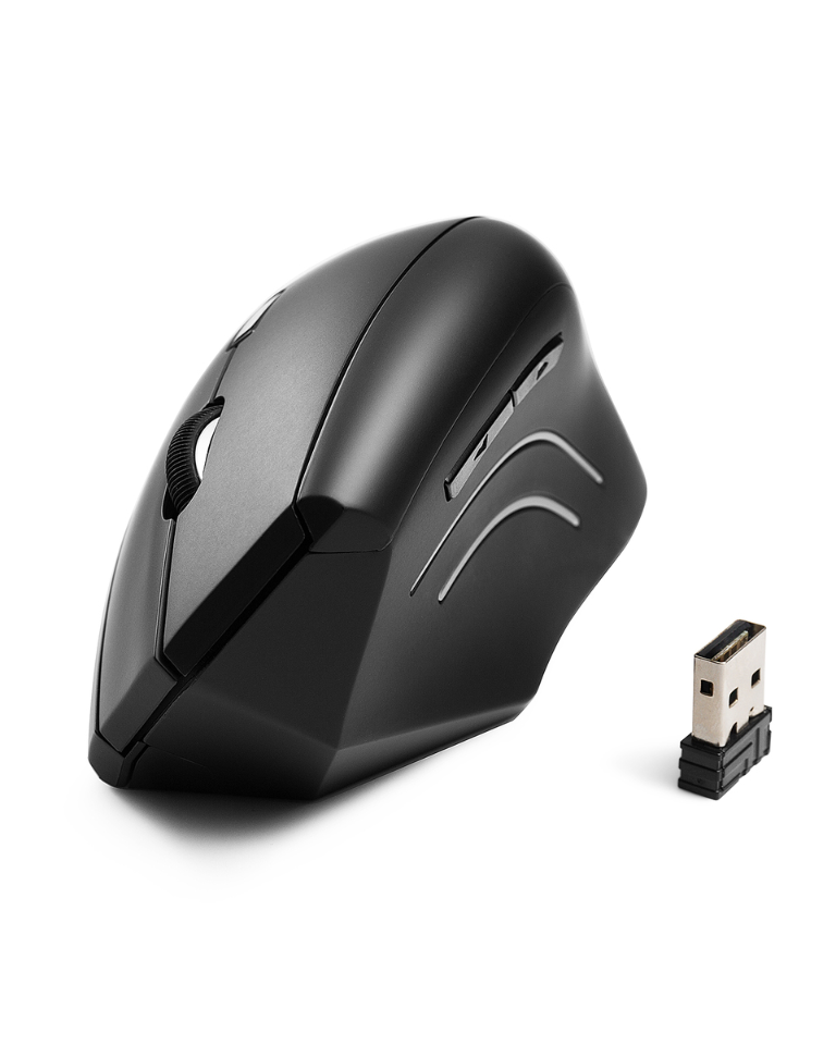 Wireless Mouse Type Vertical Grip Wireless Charging Mouse Color : Black Mouse