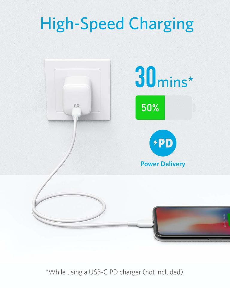 Supports Power Delivery Powerline II for iPhone 11//11 Pro // 11 Pro Max//X//XS//XR//XS Max // 8//8 Plus Anker USB C to Lightning Cable iPhone 11 Charger 3ft, 2-Pack