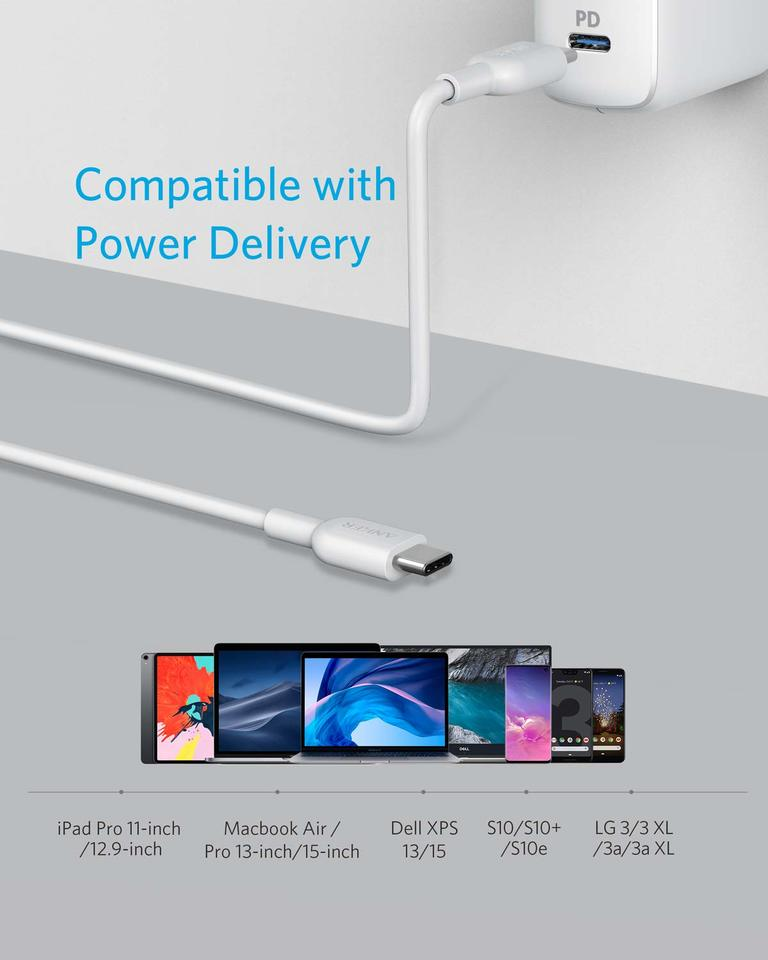 A8482021 Anker Powerline II USB C to USB C 2.0 Cable (6ft)