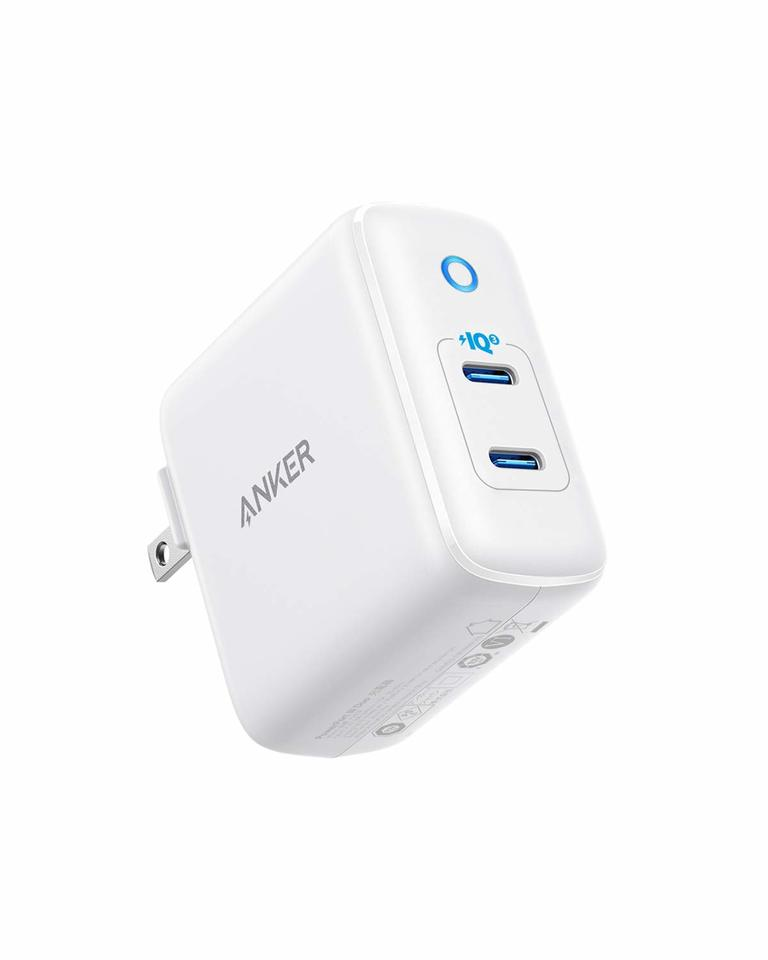 Anker 36W 2-Port PIQ 3.0 Type C Wall Charger, PowerPort III Duo White