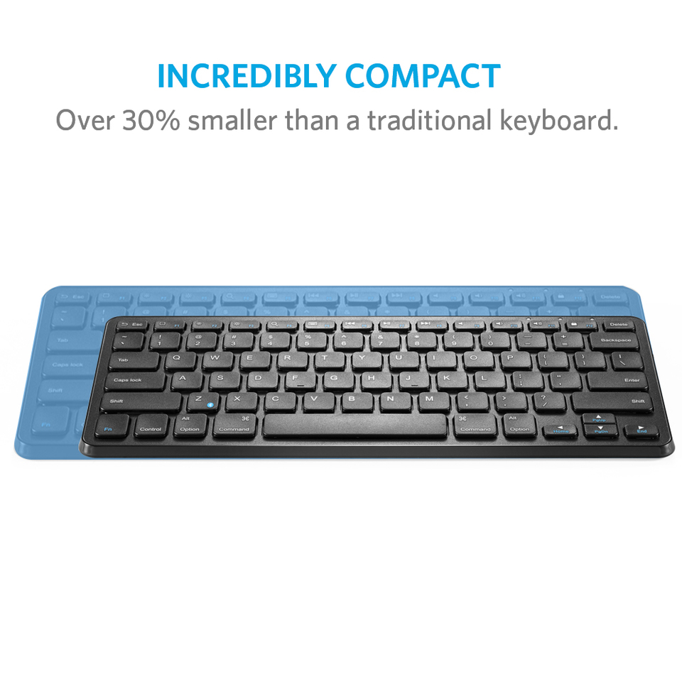 Anker ultra compact slim profile wireless bluetooth keyboard ultra compact slim profile wireless bluetooth keyboard with rechargeable battery compatible with new ipad 972017 upc code 848061074703 biocorpaavc Choice Image